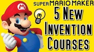 Super Mario Maker TOP 5 NEW MOST ORIGINAL Courses (Wii U)