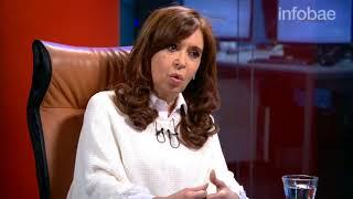 Entrevista de Cristina Kirchner con Luis Novaresio en Infobae