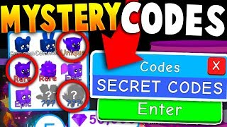 *MYSTERY* FREE LUNAR PET CODES ON ROBLOX BUBBLE GUM SIMULATOR (All Codes)
