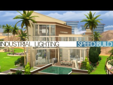 The Sims 4 Speed Build - Industrial Lighting
