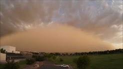 Dust Storm Sweeps Across Chandler, Arizona