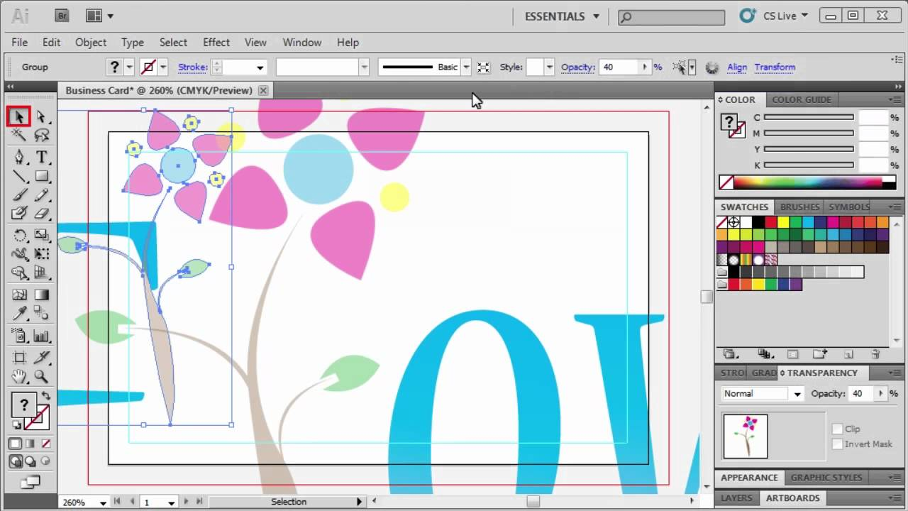 3.5 Making a Business Card: Adobe Illustrator CS5 - YouTube