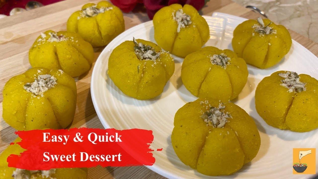 Indian Dessert Recipes Easy At Home Quick Dessert Orange Delight Youtube