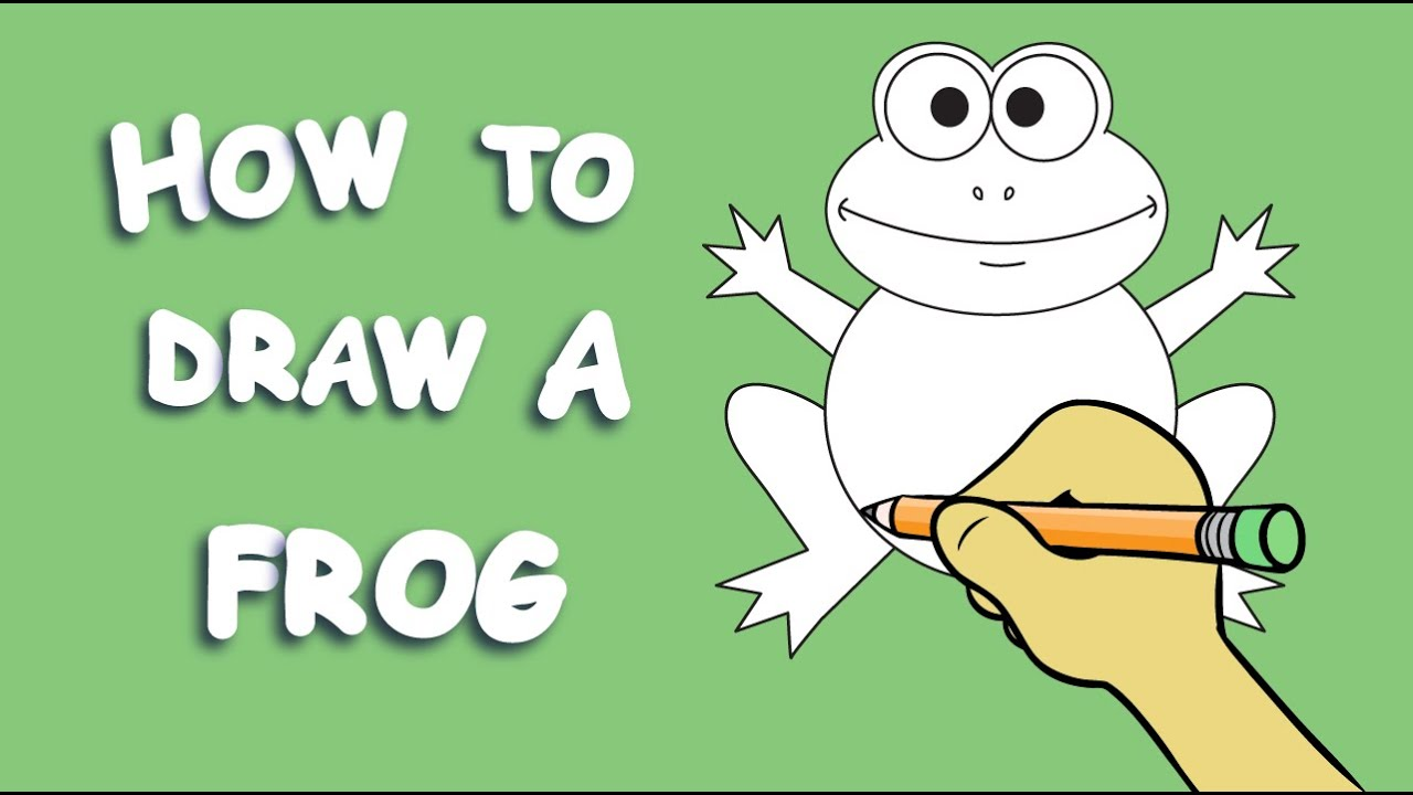 how to draw a frog youtube