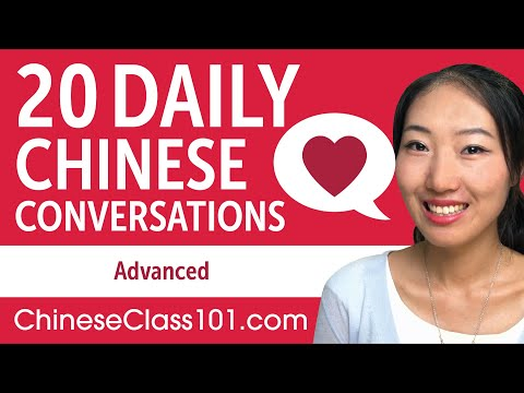 20 Daily Chinese Conversations - Chinese Practice for Advanced learners - 동영상