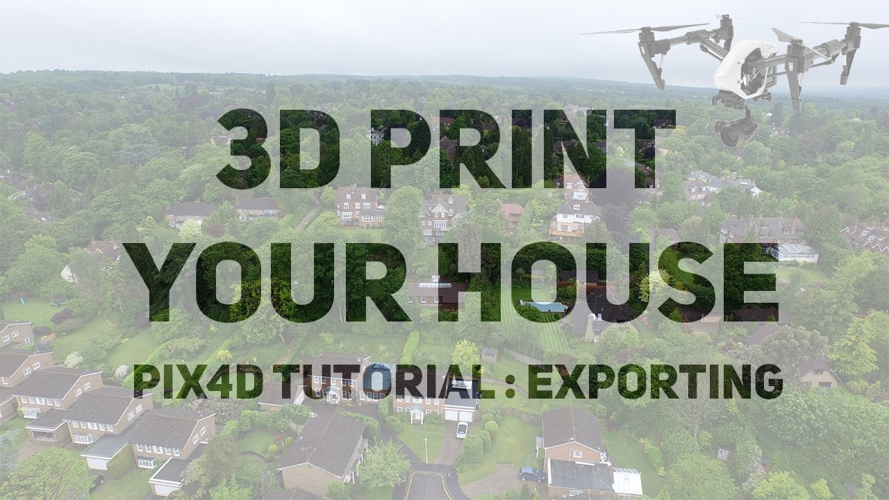 How to export Pix4D projects for 3D printing