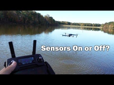 Flying Over Water - Downward Positioning Sensors On or Off?