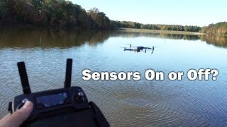 Flying Over Water - Downward Positioning Sensors On or Off?