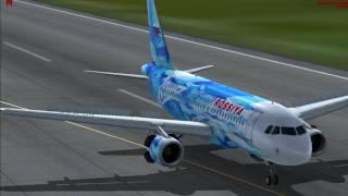 Landing in airport Pulkovo/Посадка в аэропорту пулково/FSX