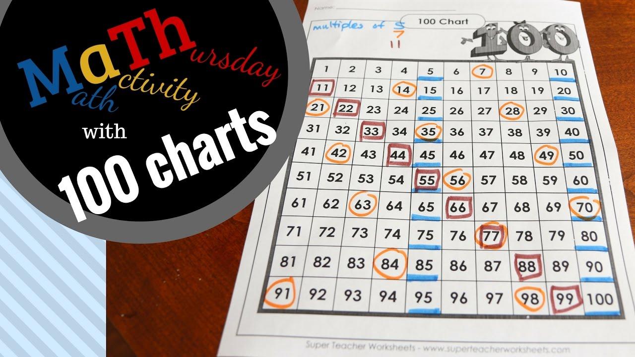 Math activity Thursday with 100 Charts - Kids Math Teacher - YouTube