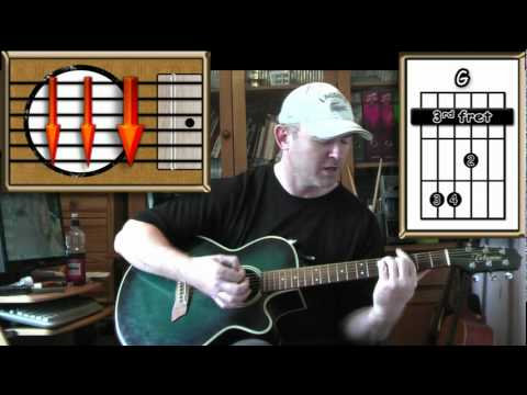 With or Without You - U2 (easy 4 chord strumming) (detuned by 1 fret)