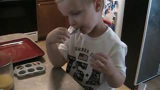 Cute Kid Baking Muffins