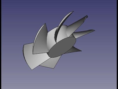 FreeCad Крыльчатка вентилятора