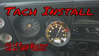 Tach Install on The 1980 C10 LS Swap Project Roadkill Style