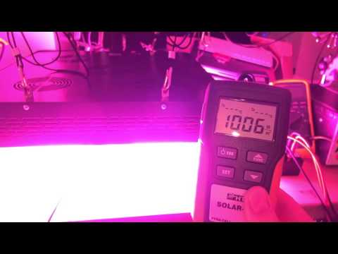 DIY Solar / Sunlight Simulator for Solar Panel Testing - Pt 2