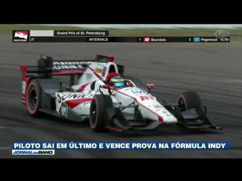 Piloto sai em último e vence prova da Fórmula Indy