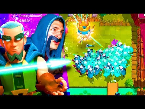 MAGIC ARCHER SWARM! 😂 (CLASH ROYALE Nickatnyte)
