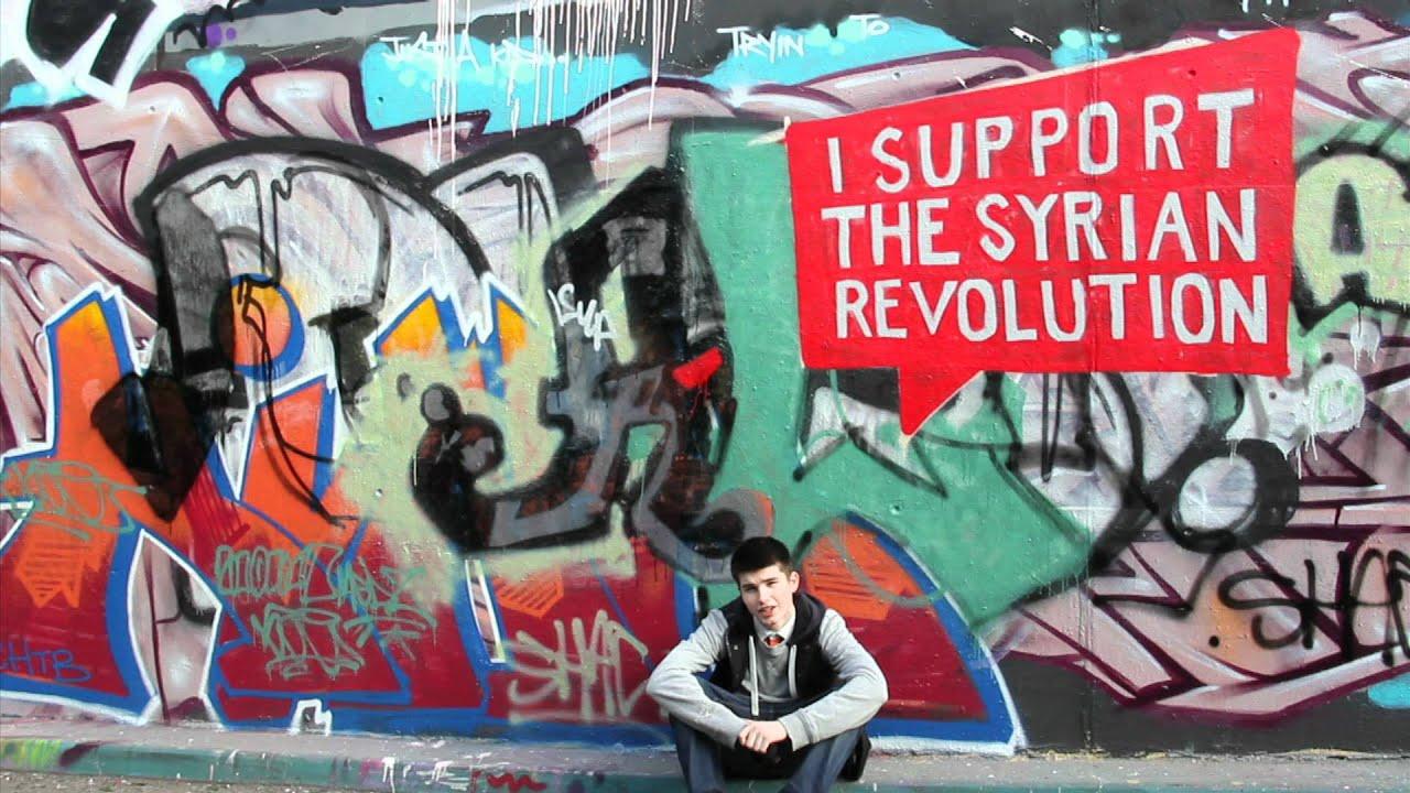 I Support The Syrian Revolution London Graffiti Artist Youtube