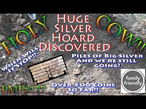 PMF#127 Holy Cow Huge Hoard Found  Big Silver Buried Treasure!! Part 1