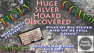 Holy Cow HUGE HOARD Found  Big Silver Buried Treasure!! Part 1