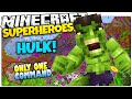 Minecraft | How To Be A Superhero! | THE INCREDIBLE HULK | Only One Command (One Command Creation)