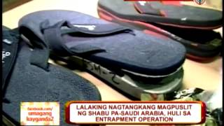 Man caught with shabu stashed in slippers