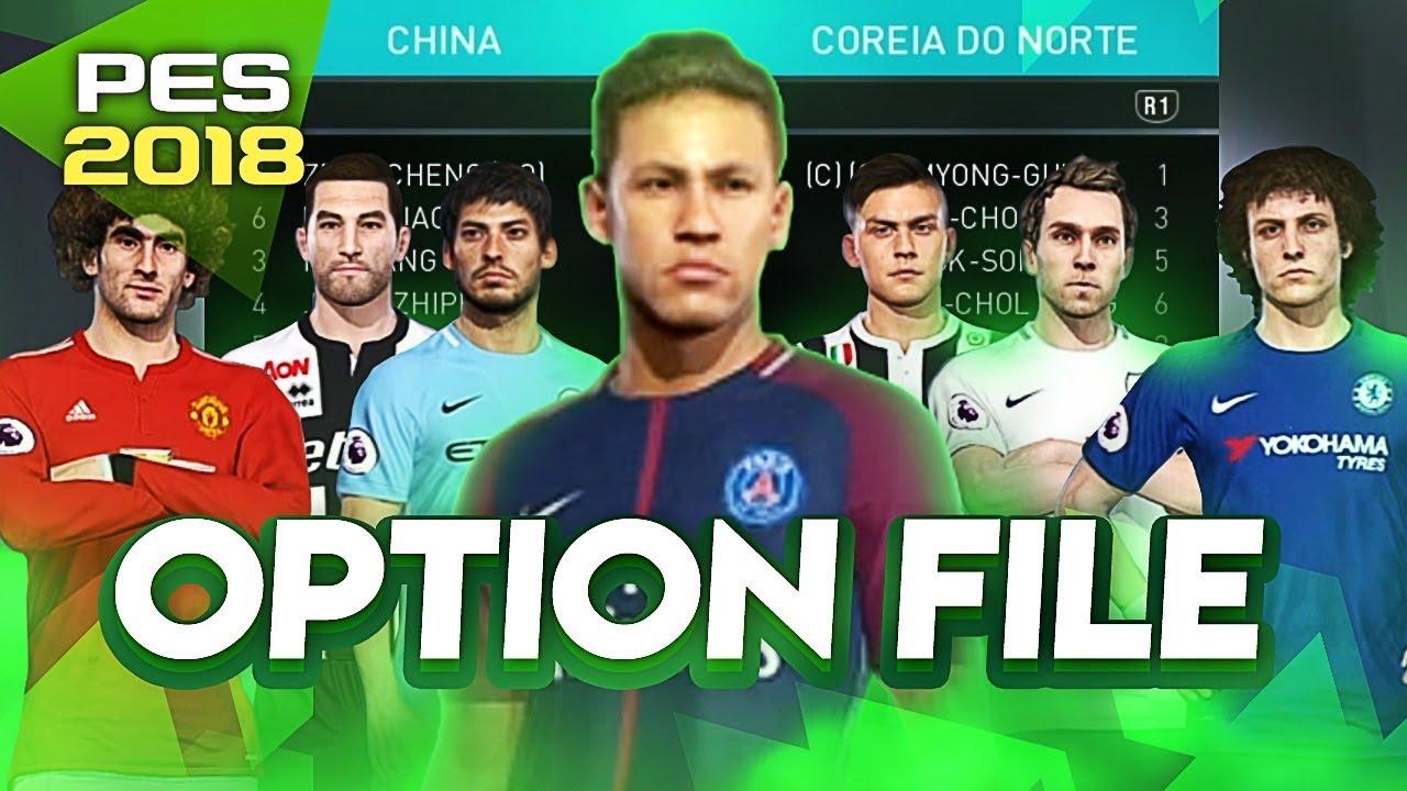 PES 2018 | COMO INSTALAR OPTION FILE COMPLETA