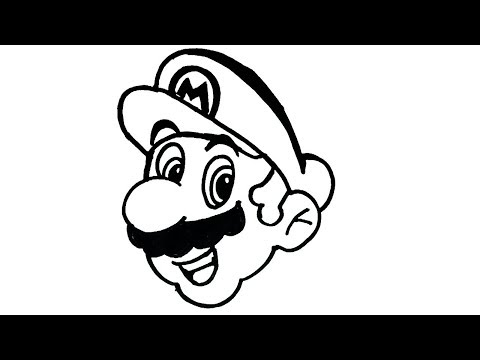 How To Draw Mario Cartoon Characters Drawing Easy Step By Step