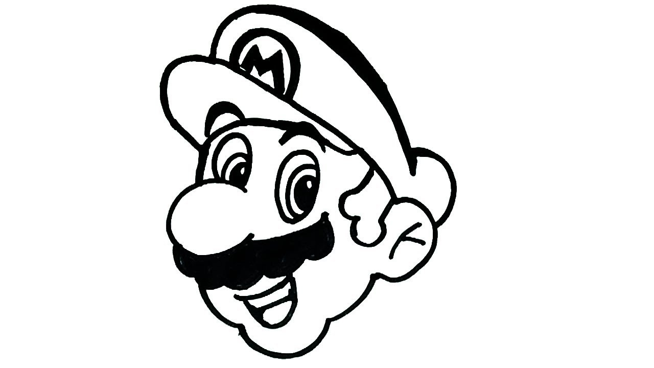 How to draw mario cartoon characters drawing easy step by step drawing for kids