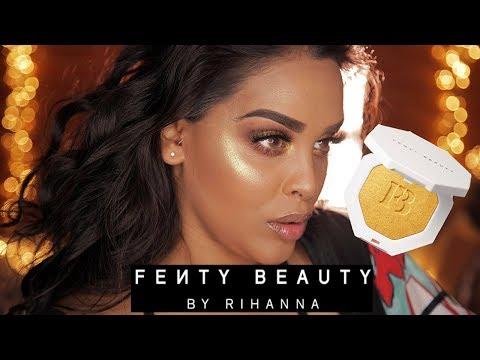 FENTY BEAUTY by RIHANNA ON TAN SKIN TUTORIAL & REVIEW| NikkisSecretx