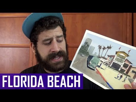 How NOT To Paint | Learn From My Mistakes (Florida Beach Painting)