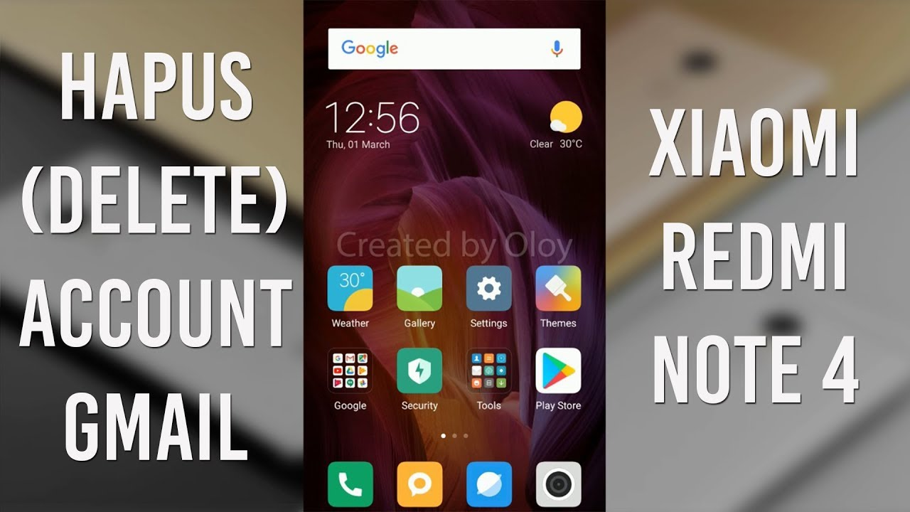 how to delete gmail account in redmi 2
