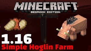 1.16 Easy Hoglin Farm with Cooked Porkchop! Best Infinite Food Source! (Minecraft Bedrock)