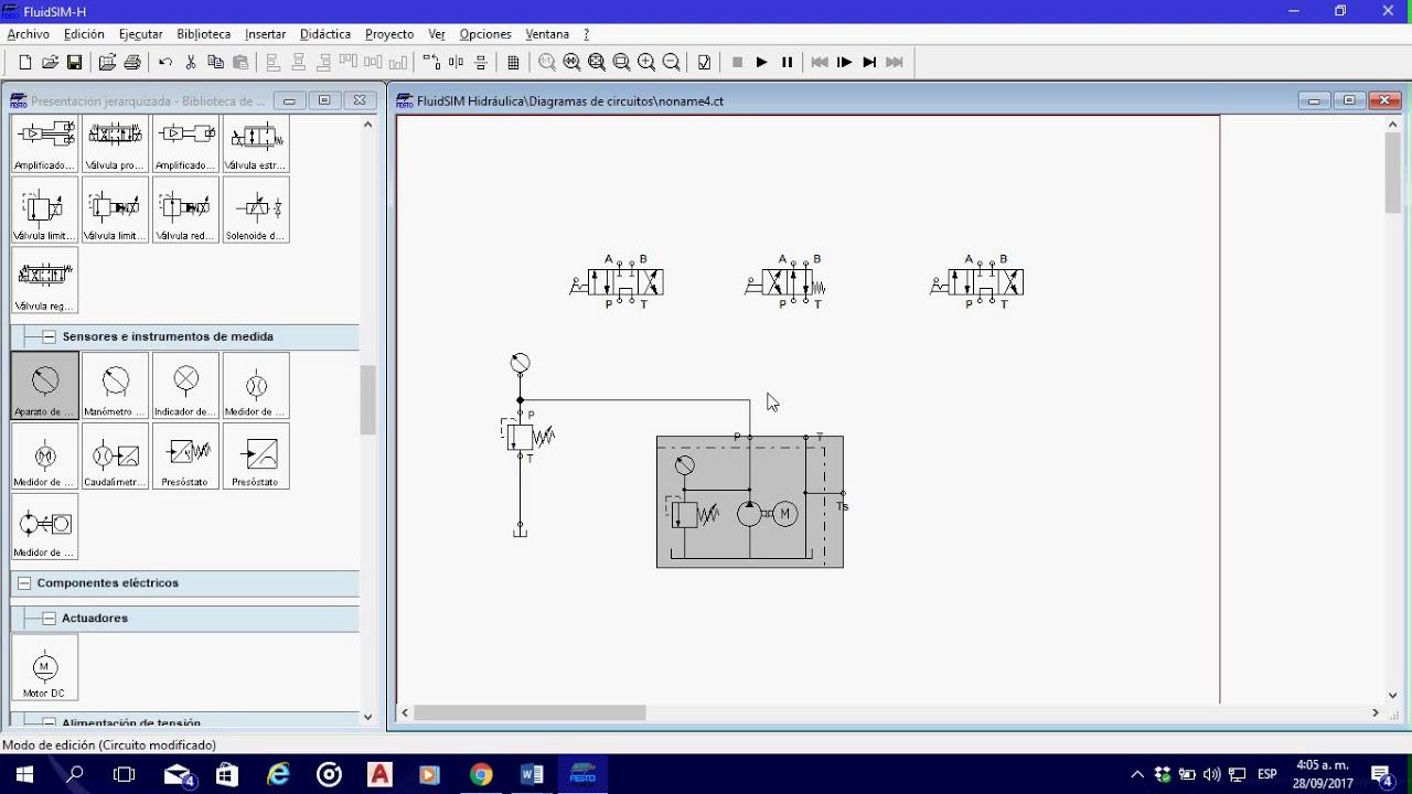 Circuito Hidraulico Mixto : Diagrama de un circuito hidráulico en serie y paralelo válvulas