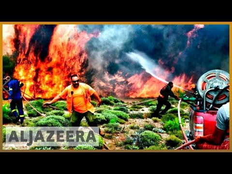 🇬🇷 'A sea of fire' : Greece wildfire survivors recount horror | Al Jazeera English