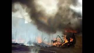 #عـاجل : الصور الأولى لحادث إنفجار قنينات غازية بسوق البرج المشقوق بمدينة مكناس