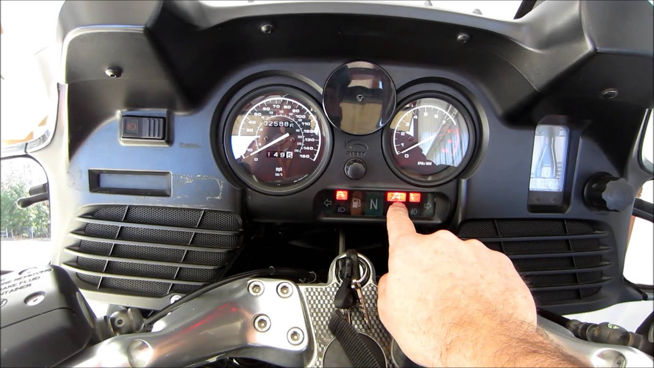 BMW MOTORCYCLE ABS BRAKE TUTORIAL- ENGINE START- R1150RT ...