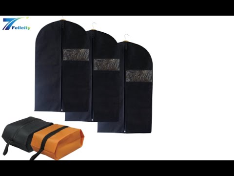 7Felicity Set of 3 Breathable Garment Bags and 2 shoe bags
