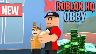 Escaping Roblox HQ Obby!!!