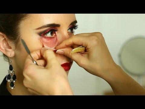макияж на хэллоуин: Оторванная кожа