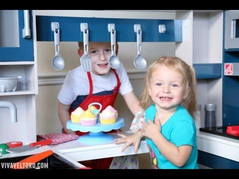 Step2 Grand Walk-In Wood Kitchen for Kids - YouTube