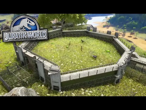 RAPTOR PADDOCK COMPOUND! - Jurassic World - Ark Survival Evolved MOD | Ep 2