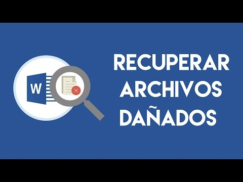 RECUPERAR ARCHIVOS DAÑADOS - WORD, EXCEL, POWER POINT.