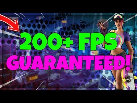 How To Get Highest Possible FPS In Fortnite!! (200+)