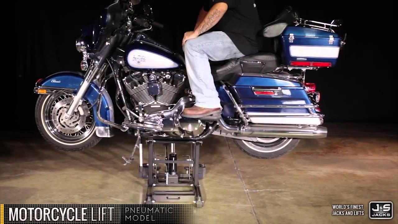 J&S Jacks Motorcycle Lift - YouTube