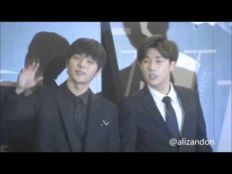 Myungsoo & Sungkyu - 151112 Infinite Effect Presscon in Singapore