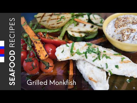 Grilled Monkfish Tail With Vegetables (how To Prepare And Cook Monkfish) | Recipe By Gutti Winther