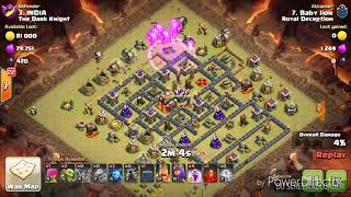Lava loon 3 star TH10 best war attack with Low level heroes|clash of clans|2018 updated