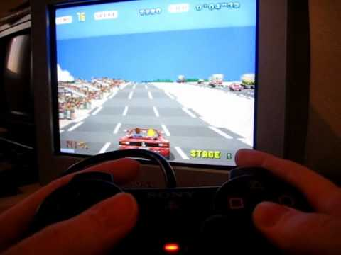Sega Outrun PCB with Playstation2 controller