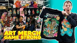 Artist's Convention Table Setup - Emerald City Comic Con Vlog